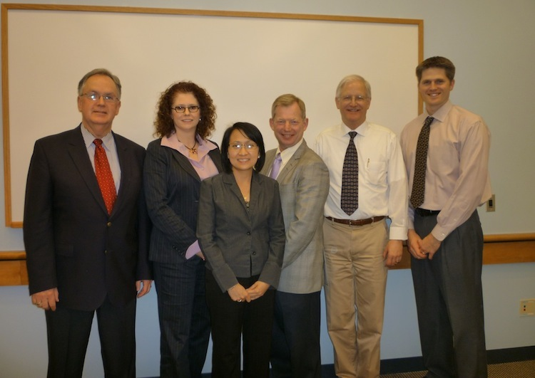 Sarah Cervantes-Pahm with her thesis committee after her defense