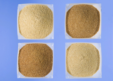 Soybean meal subjected to different heat treatments