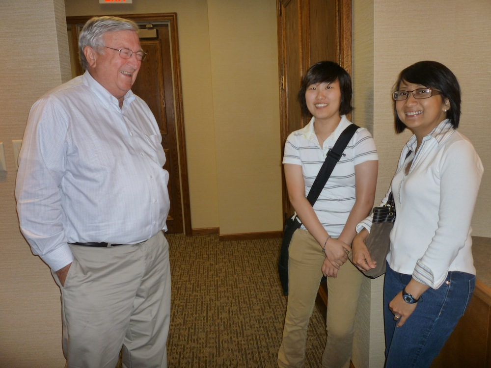 Jin and Sarah with Dr. John Schillinger