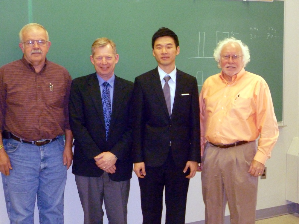 Jung Lee and his Master's thesis committee