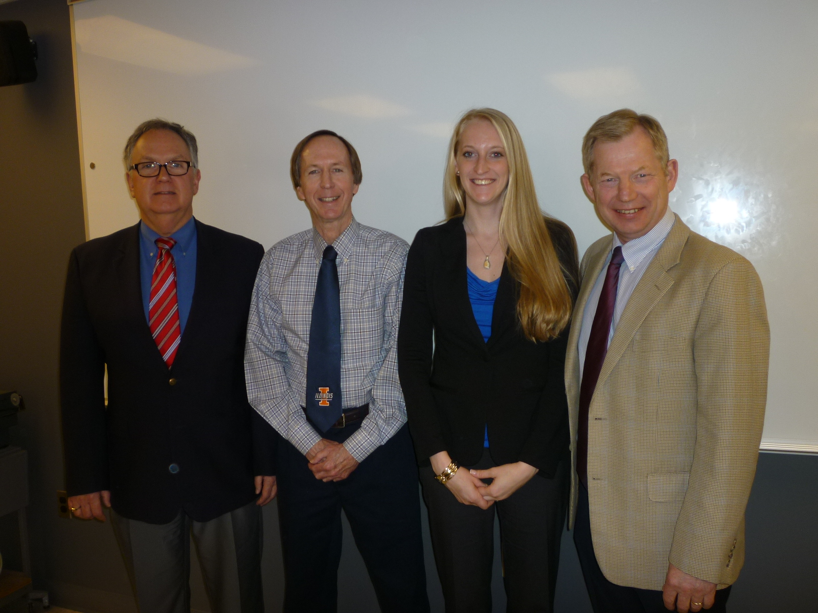 Chelsie with her Master's thesis committee after her successful defense on April 10.